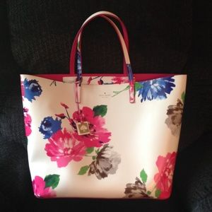 "Kate Spade ""Turn Over A New Leaf"" Leather Tote"